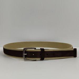 Brooks Brothers 346 Leather & Cotton Belt